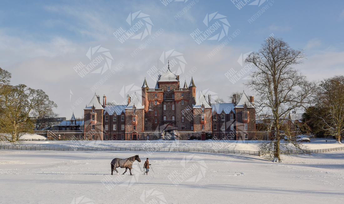 Thirlestane Castle Heavy snow Scottish Borders , Scotland